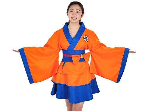 CoolChange Kimono de Dragon Ball para Mujer con diseño de Son Goku, Chaqueta y Falda, Talla: M
