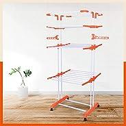 Bathla Mobidry Giga - Extra-Large 4 Level Modular Cloth Drying Stand (Orange)