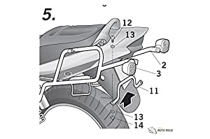 SHAD S0GS16SF Side Case Fitting Kit for Suzuki GSX1400, Black