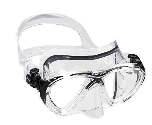 Cressi Unisex - Erwachsene Taucherbrille Big Eyes Evolution, clear, DS336060
