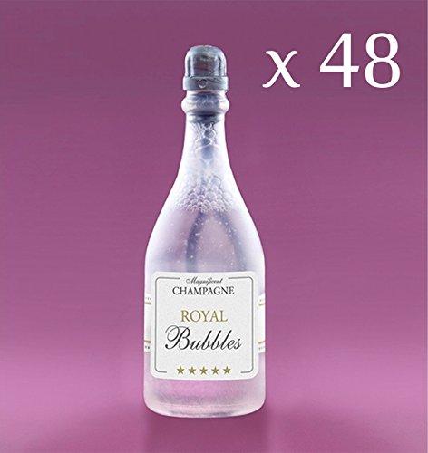 PartyDeco 48 Bolle di Sapone Bottiglia Champagne