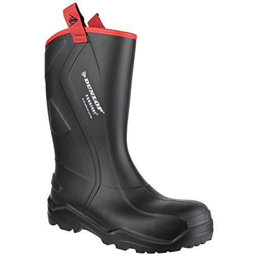 Dunlop - Stivali di Gomma Robusti di Sicurezza Nero