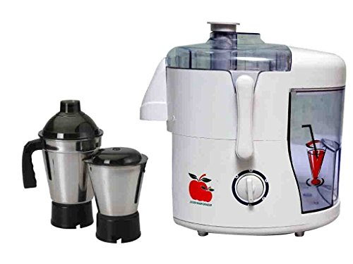 ASC Green Home Rotery Juicer Mixer Grinder 550W With 2 Stainless steel Jar ( White)