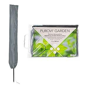Purovi Schutzhülle für Sonnenschirme, Grau, 35×180 cm