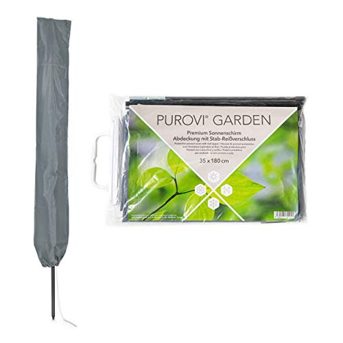 Purovi Schutzhülle für Sonnenschirme, Grau, 35x180 cm