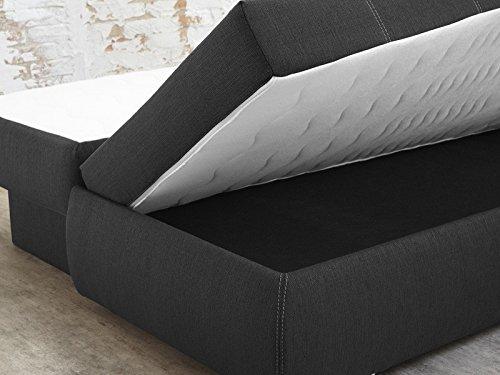 dauerschl fer schlafsofa merlin 210x112cm dunkelgrau. Black Bedroom Furniture Sets. Home Design Ideas