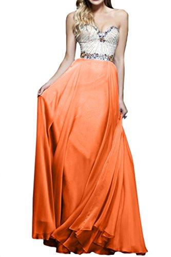 ivyd ressing–Cœur de la découpe strass a ligne fixe Vêtements Prom robe robe du soir Orange