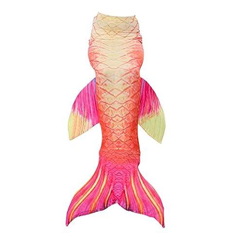 Fanryn jolie fille Queue de Sirène Mermaid Tail maillot de bain costume pour enfants natation natation cosplay