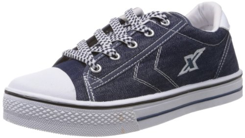 Sparx Men's Blue and White Canvas Sneakers  - 8 UK  available at amazon for Rs.449