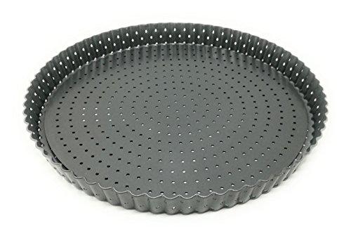 JPF - Obstkuchenform - Tortenboden - Tarteform - Quicheform mit Hebeboden - Karbonstahl - Antihaftbeschichtung - Ø 28 - Höhe 3 cm