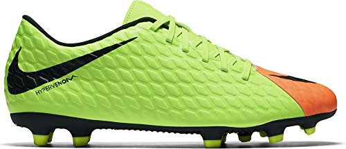 Nike Hypervenom Phade III FG, Scarpe da Calcio Uomo, Multicolore (Electric Green/Black-Hyper Orange-Volt), 44 (Nike Lifestyle Scarpe)
