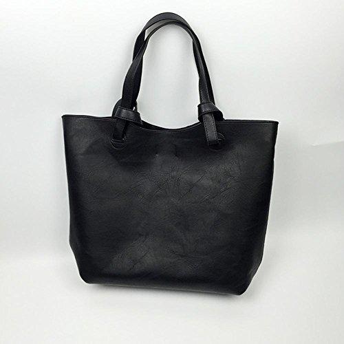 GBT Große Umhängetasche Freizeit-Paket Tasche Retro-Tasche Black