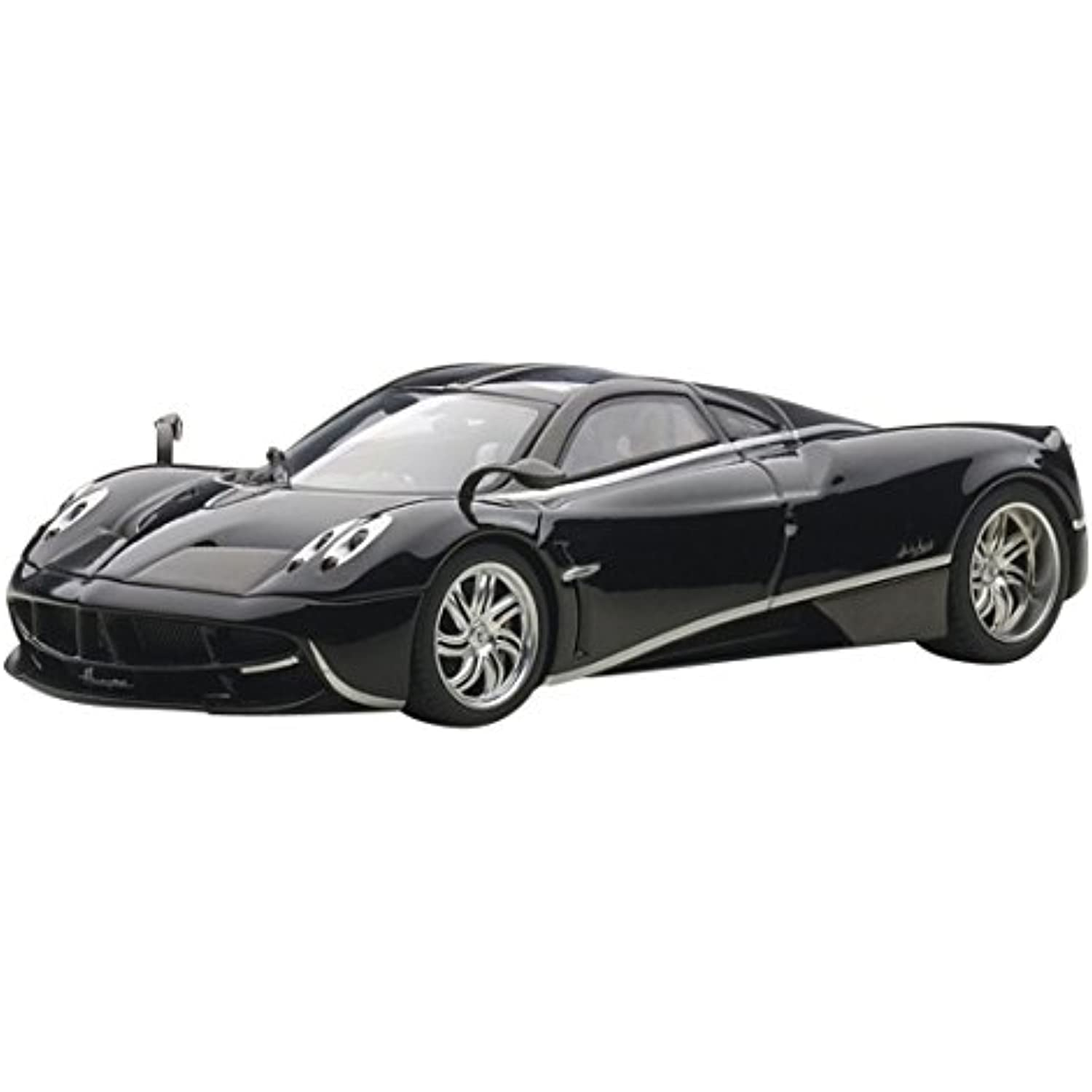 Pagani Huayra Black Black Black with Silver Stripes 1/43 by Autoart 58209 f1ee1d