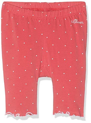s.Oliver Baby-Mädchen 65.904.75.2770 Leggings, Rot (Pink AOP 45a2), (Herstellergröße: 80)