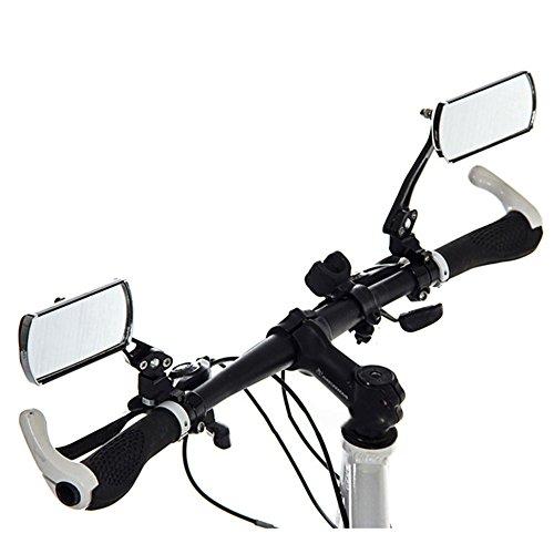 Cheeroyal, Fahrrad-Spiegel, Mountainbike, Rückspiegel, verstellbar, drehbar, rechteckige Form, für mehr Flexibilität, Konvexspiegel, Weitwinkel, für den Fahrrad-Lenker, 1 Paar, blau