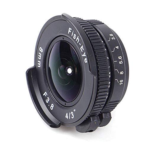 BIYI 8mm F3.8 Fischauge C Mount Weitwinkel Fisheye Objektiv Brennweite Fischauge Objektiv Anzug für Panasonic für Olympus schwarz