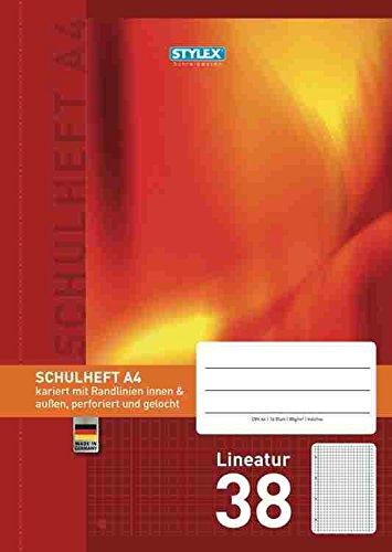 Stylex 29838 Schulheft A4 mit Lineatur 38