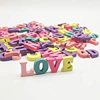 100Pcs Wooden Letters, Handmade Alphabet, Home Multi-Coloured Wooden Numbers Decoration Toy for Kids