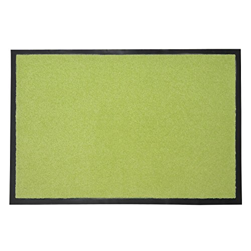 casa pura® Premium Fußmatte in attraktiver Optik | Schmutzfangmatte in 5 Größen | hellgrün | 40x60cm