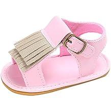 zapatos de bebe primeros pasos, Switchali Recién nacido bebe niña verano Suela blanda Antideslizante Sandalias Niños Zapatillas niñas vestir borla casual moda Calzado