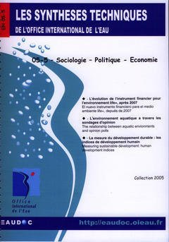 Sociologie - Politique - conomie (les Syntheses Techniques de l'Office International de l'Eau, en 0