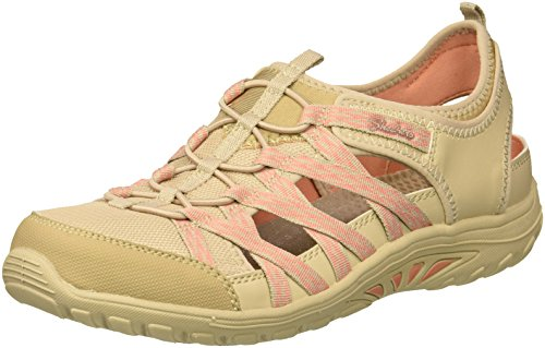 Skechers Women's Reggae Fest-Squirt-Fisherman Slingback Casual Water Shoe, Natural/Coral, 7.5 M US - Fest Skechers Reggae