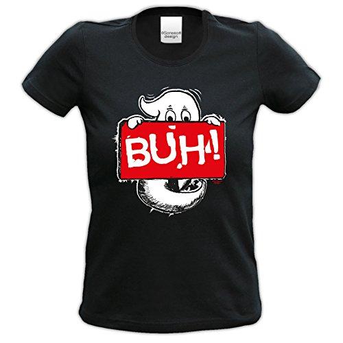 Kostüm Fun Motiv T-Shirt Verkleidung Outfit Damen Mädchen Bekleidung tolles Geschenk Farbe: schwarz Gr: S ()