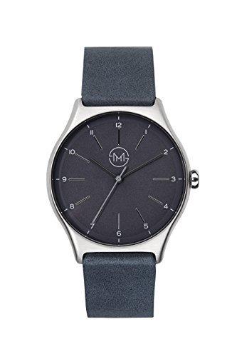 slim made one 05 - Extra dünne Unisex Uhr in Silber/schwarz
