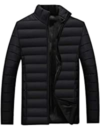 RONSHIN Men Warm Thicken Padded Jacket Casual Zipper Slim Short Outwear Coat for Winter