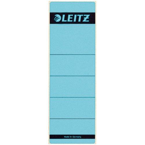Preisvergleich Produktbild Leitz 16421035 Rückenschild selbstklebend, Papier, kurz, breit, 100 Stück, blau