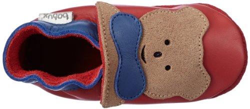 Bobux 460605, Chaussons premier âge mixte enfant Rouge - Rot (rot 4)