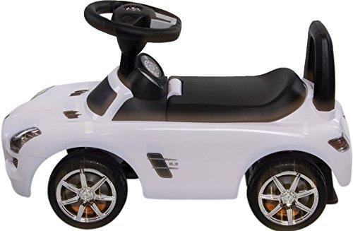 Rutschauto Rutscher Bobby car Mercedes-BENZ SLS AMG Kinder Auto Baby Car mit Sound (WEISS) - 3