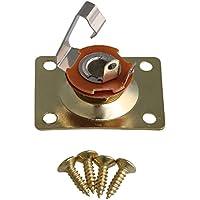 BQLZR Gold Guitare Rectangulaire Jack Plate Socket pour Guitare