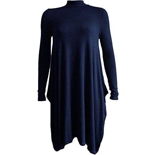 Generic - Robe - Robe de swing - Femme Multicolore Bigarré Multicolore - Bleu marine