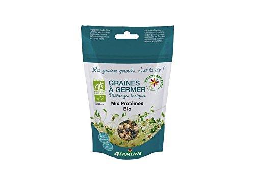Germline - Graines à germer bio - Mix protéines (pois chiche/lentilles/fénugrec)