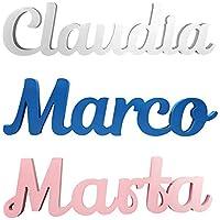 Nombres Decorativos 40 x 12 x 1.1 cm, Nombres para Bebés, Nombres para Boda, Regalos de Recién Nacidos, Nombres para Decorar - Texto, Tipografía, Color y Longitud Editable
