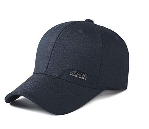 JIACHIHH Baseballmütze Baumwolle,Einstellbare Einfarbige Baseball Cap Navy Blue Unisex Paar Hut Casual Hut Navy Blue Cap