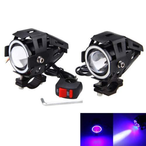 FidgetGear - Interruptor de luz antiniebla para Motocicleta, 2 x 125 W,...
