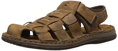 Woodland Men's Camel Leather Sandals and Floaters - 10 UK/India (44 EU)