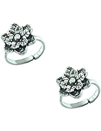 Style A Bit Sterling Silver Toe Ring Set For A Women TOE009-O