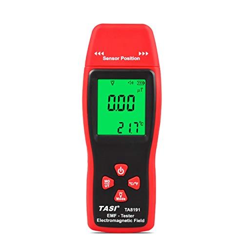 Tellaboull TA8191 Digital Mini LCD Rilevatore di Radiazioni da Campo elettromagnetico Handheld EMF Meter Dosimetro Gauss Tester ASSE Singolo