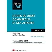 Cours de droit commercial et des affaires