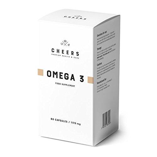 Omega 3 por Cheers - Suplemento de aceite para pescado - Potencia 2X - 550 mg de DHA/EPA por cápsula...