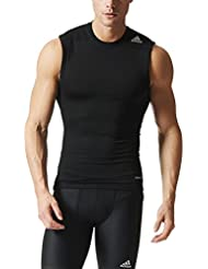 adidas TF Base Sl - Camiseta para hombre, talla M, color negro