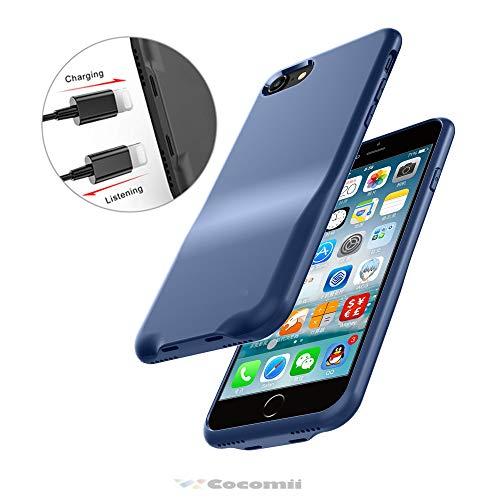 Cocomii Duo Lightning Audio Armor iPhone 8/iPhone 7 Hülle [Dual Lightning Jack Adapter Hülle] Anruf+Audio+Ladegerät Laden Und Musik Hören Case Schutzhülle for iPhone 8/iPhone 7 (Duo.Blue) Duo Shield Armor Case