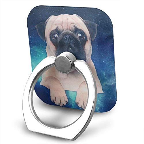 Nicegift Cute Dog Drawstring Bag Travel Backpack Printing Pets Casual Daypacks Ring Phone Holder Bracket Pop Stand Kickstand for Smartphones,Tablets