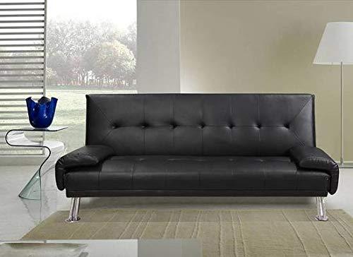 Divano Letto Bianco Ecopelle : Bagno italia divano letto sofà in ecopelle nero o