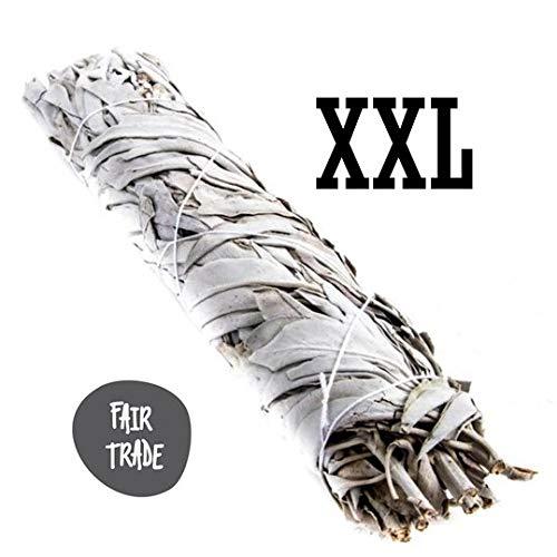 XXL Weißer Salbei Stäbe Bündel Smudge Stick (+/- 23 cm) White Sage Jiri and Friends 100% Natürlich FAIR TRADE -
