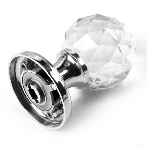 416kmCy7lAL - BTSKY Par de pomos Cristal Claro de 65 mm para Puertas