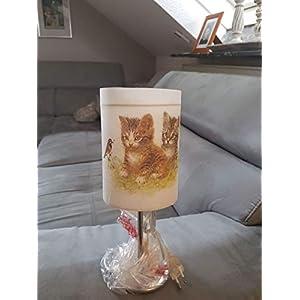 Nachttischlampe, Tischlampe Kinderzimmerlampe Katze